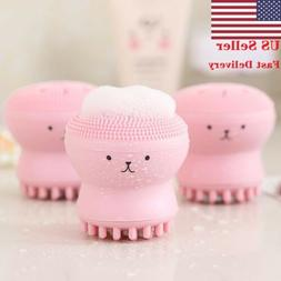2PCS USA Silicone Face Cleansing Brush Facial Cleanser Pore