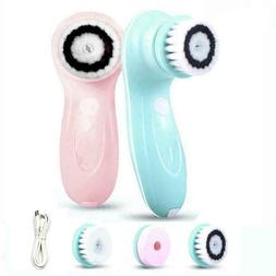 3 in 1 usb rechargeable face cleaner