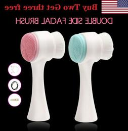 5PCS USA Silicone Face Cleansing Brush Facial Cleanser Pore