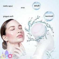 brush facial cleansing massage for skin care