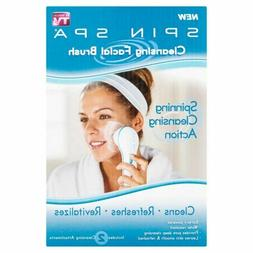 SPIN SPA CLEANSING FACIAL BRUSH WITH 2 CLEANSING ATTACHMENTS