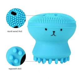 Cute Silicone Massaging Gentle Facial Cleansing Brush