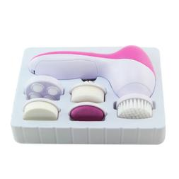 Electric Facial Cleaner Face Spa Brush Massager Scrubber Dri