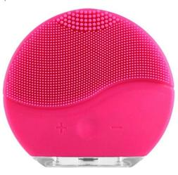 Electric Facial Cleansing Brush Silicone Sonic Vibration Min
