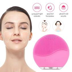 Facial Silicone Electric Face Cleansing Brush Rechargeable C