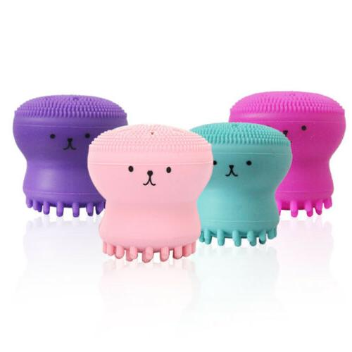 2PCS Silicone Brush Facial Cleanser Pore Cleaner