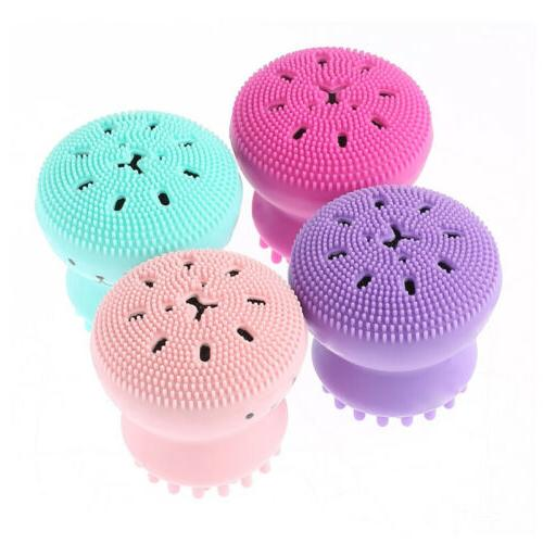 2PCS Silicone Face Cleansing Brush Skin Pore Cleaner