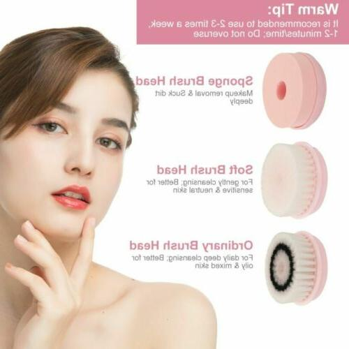 3-in-1 Rechargeable Facial Brush Set Soft Face