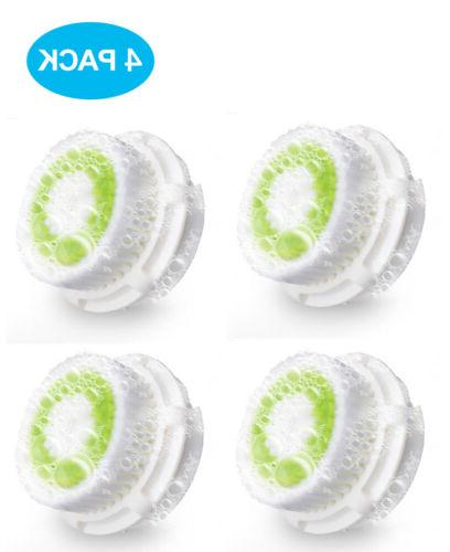 4 pack facial cleansing brush replacement head