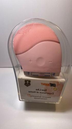 facial cleansing brush face scrubber by pink