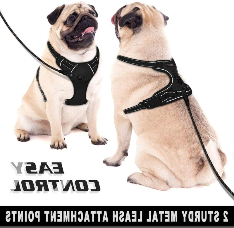 Barkbay No Pull Harness Reflective Dog Harness With Front