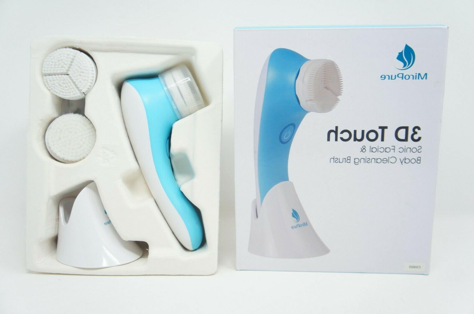 sonic rechargeable facial brush 3d brush heads