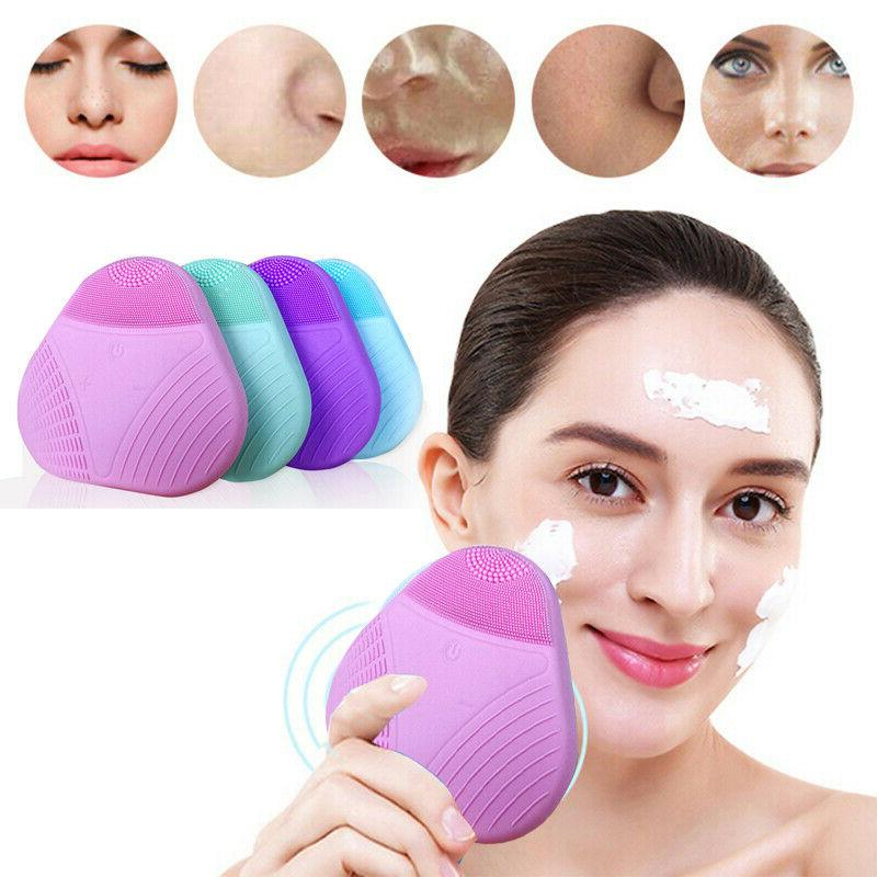 us facial silicone electric face cleansing brush