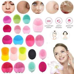 Electric Silicone Facial Cleansing Face Washing Brush Skin P