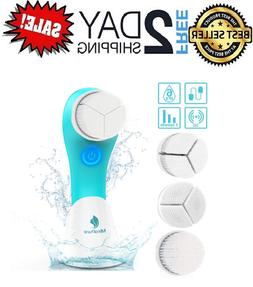 MiroPure Sonic Rechargeable Facial Brush, 3D Brush Heads Des