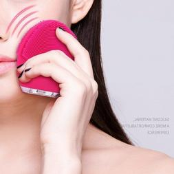New Electric Facial Cleansing Brush Silicone Sonic Vibration