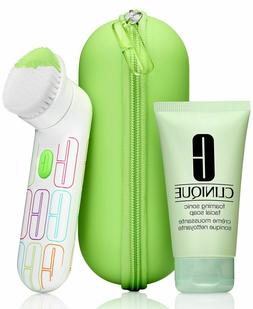 NEW Clinique Sonic System Facial Cleansing Brush & Soap Set