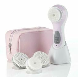 New True Glow by Conair Sonic Facial Skincare System; Pink E