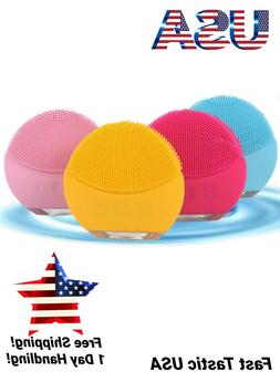 New Waterproof Silicone Facial Cleansing Brush Sonic Vibrati