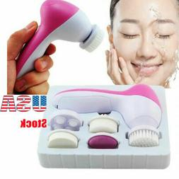 Portable 5In1 Multifunction Electric Facial Skin Brush Spa F