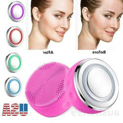 Rechargeable Electric Facial Cleansing Brush Set Face Body E