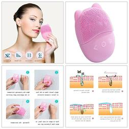 Rechargeable Electric Facial Cleansing Massager Brush Set Fa