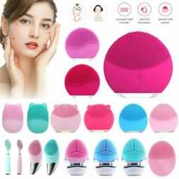 Silicone Electric Face Cleansing Brush Ultra Sonic Facial Sk