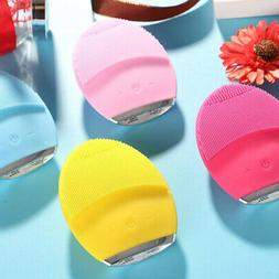 silicone electric facial cleansing brush sonic face