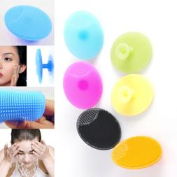 Silicone Facial Cleaning Brush Baby Bath Face Blackhead Exfo