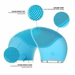 silicone facial cleansing brush sonic face care