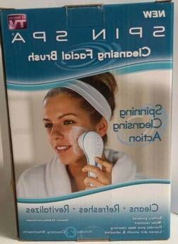 Spin Spa Spinning Cleansing Facial Brush Cleanse Refresh -