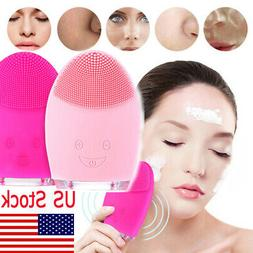 US Facial Electric Silicone Face Cleansing Brush Rechargeabl